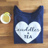 cuddles & tea sweatshirt | navy blue