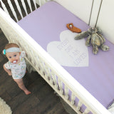 crib sheet | lavender