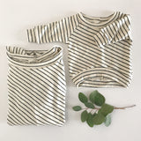 mama + little french terry striped sweatshirt set
