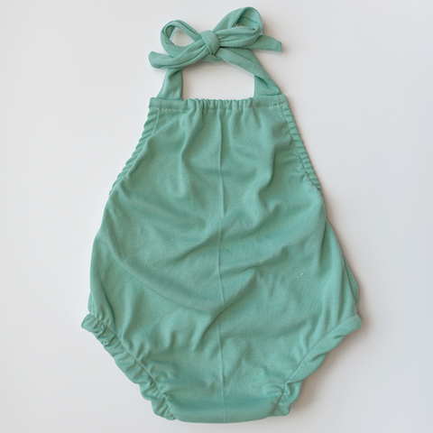 Collar pocket dress | seafoam
