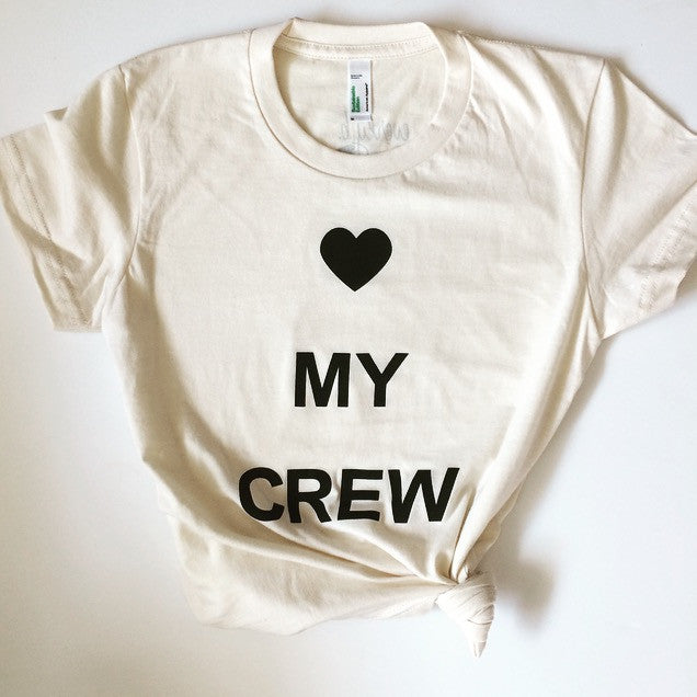 heart my crew fitted tee