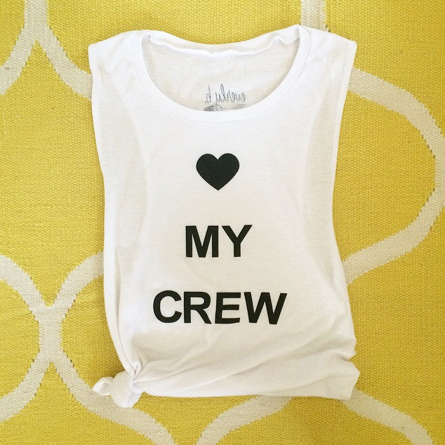 heart my crew | muscle tank | white