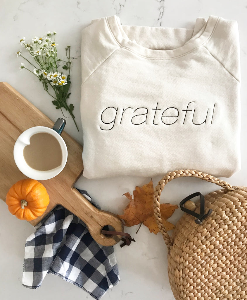 grateful high low sweatshirt | natural