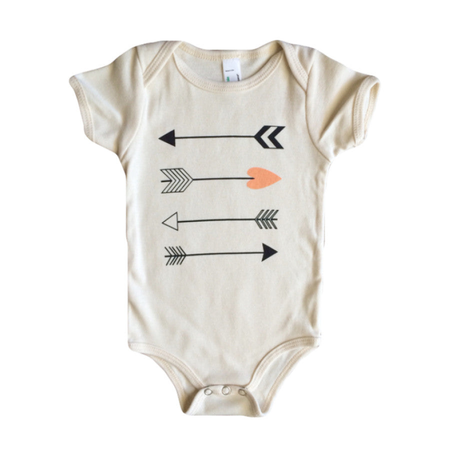 love arrow onesie | peach