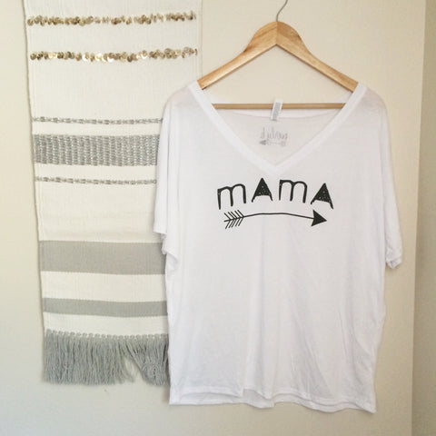 mama hood muscle tank | dusty blue