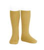 ribbed knee highs | mustard