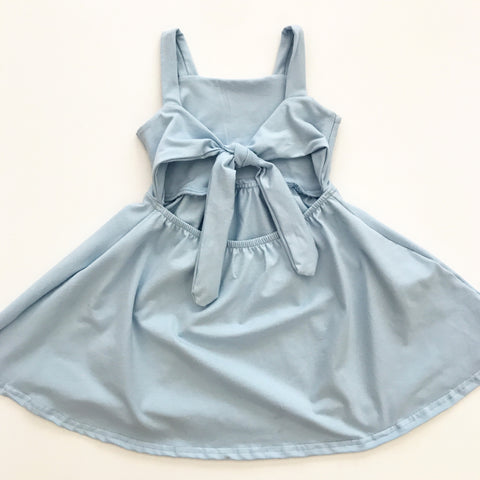 off the shoulder ruffle dress in heather grey