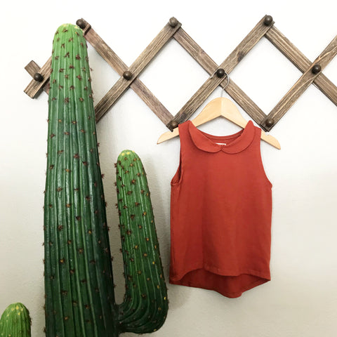 Collar dress | terracotta