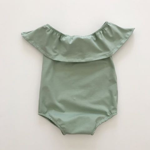 halter playsuit in seafoam