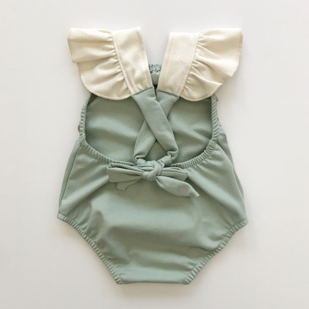 criss cross playsuit in succulent