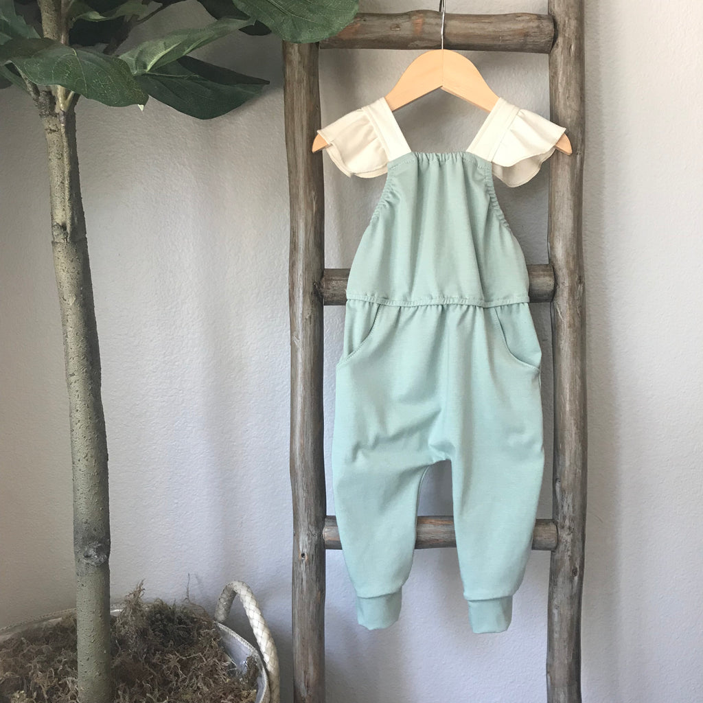 criss cross jumpsuit in succulent