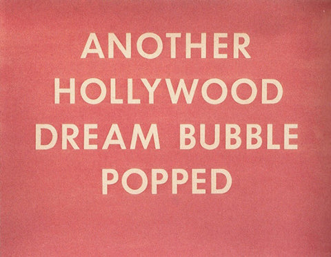 Another Hollywood Dream Bubble Popped