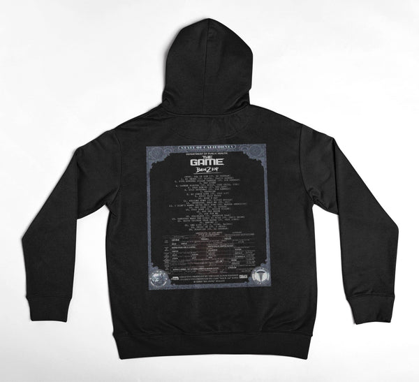 Born 2 Rap - Birth Certificate Hoodie (Black)