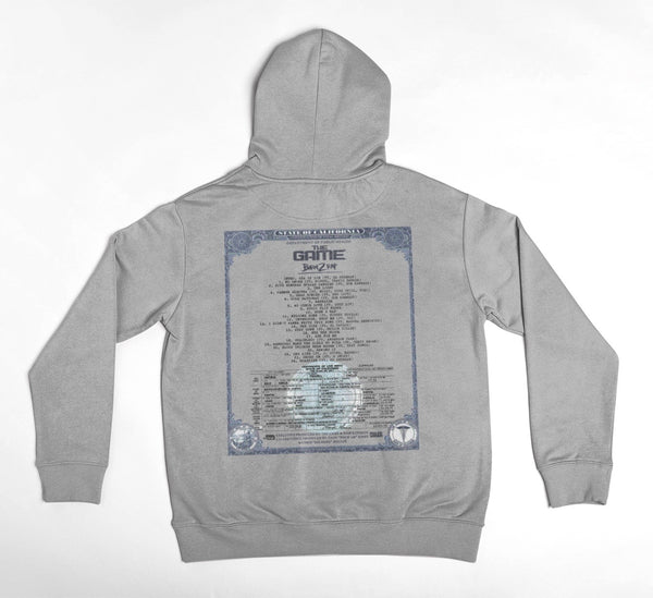 Born 2 Rap - Birth Certificate Hoodie (Grey)