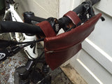 Leather Handlebar bike/ stroller bag
