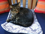 Grey Paisley Cat Bed