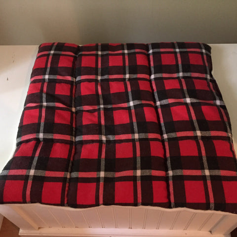 Red and Black Square Cat Bed