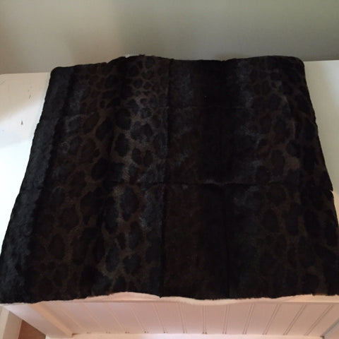 Faux Leopard skin Cat Bed