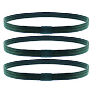 3 on a Card Metal Free Head Elastics