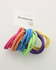Metal Free Elastics Mix 18pcs/card