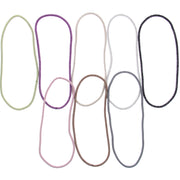 8 on a Card Thin Assorted Metal Free Head Elastics