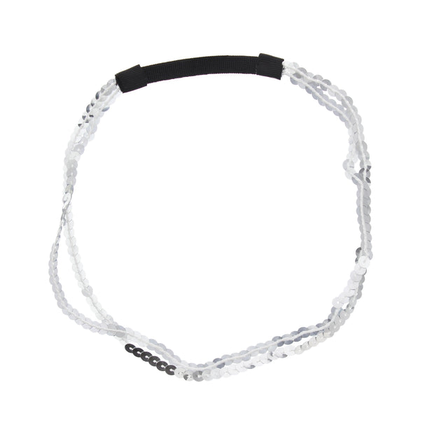Metal Free Sequins Head Elastic