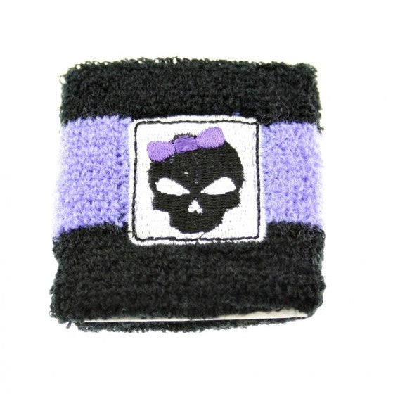 Bowed Skull on Towelling Sweatbands
