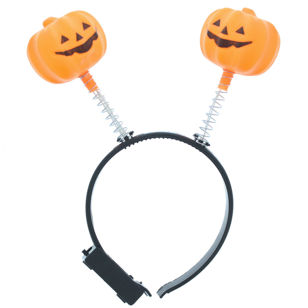 Flashing Light Up Halloween Pumpkin Head Boppers