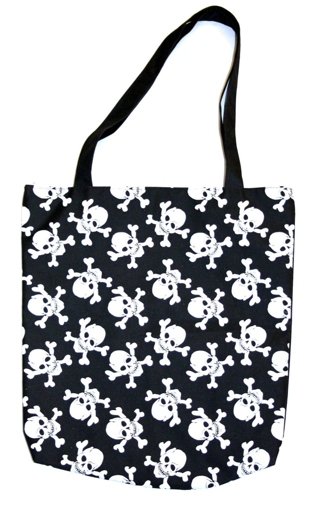 Skull & Crossbones on Black Bag