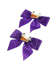 Pair of Polkadot Bows with Ghosts