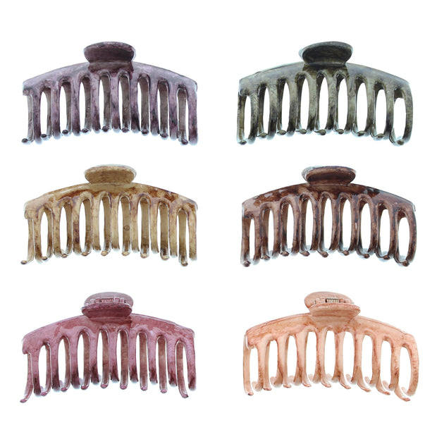 9cm Assorted Winter Marble Effect Barrel Clamps