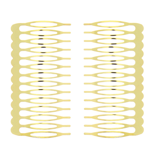 Pair of 7.5cm Metal Combs