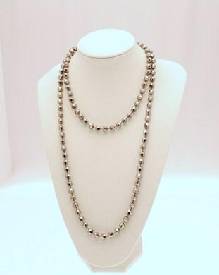 48 Inch Faceted Bead Necklace