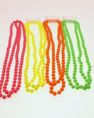 Assorted Colour 48 Inch Bead Necklaces
