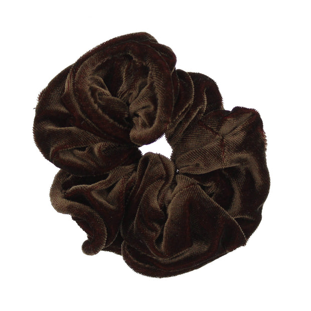 Shiny Velvet Piping Scrunchie