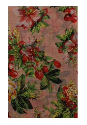 Butterfly, Cherry & Flower Print Scarf