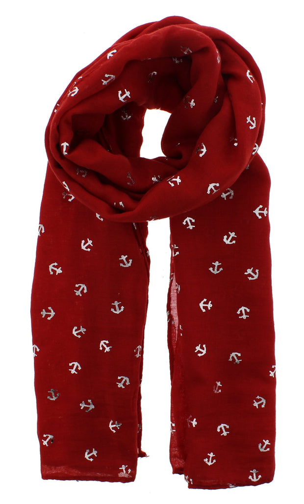 Scarf with Silver Foil Anchors