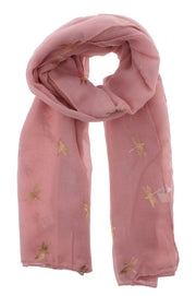 Scarf with Gold Foil Dragonflies