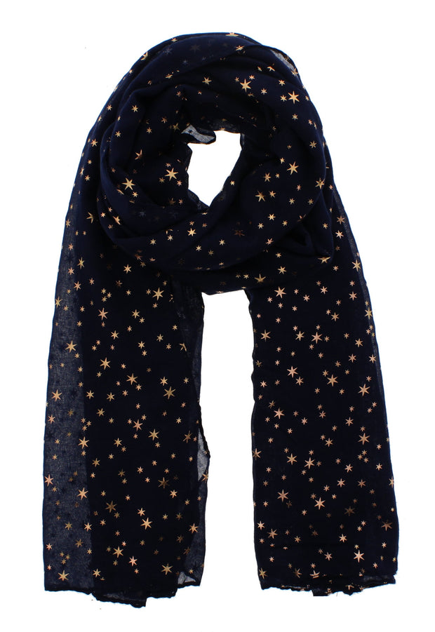 Scarf with Gold Foil Stars