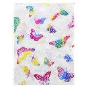 Scarf with Rainbow Foil Butterflies