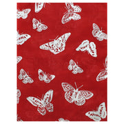 Scarf with Silver Foil Butterflies