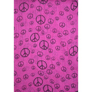 CND Peace Sign Print Scarf