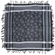 Meter x Meter CND Peace Sign Print Square Scarf