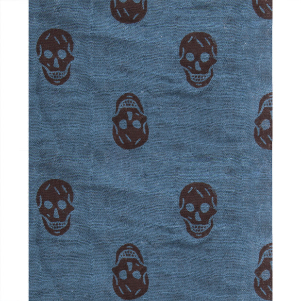 Skull & Crossbones Reversible Triangle Scarf