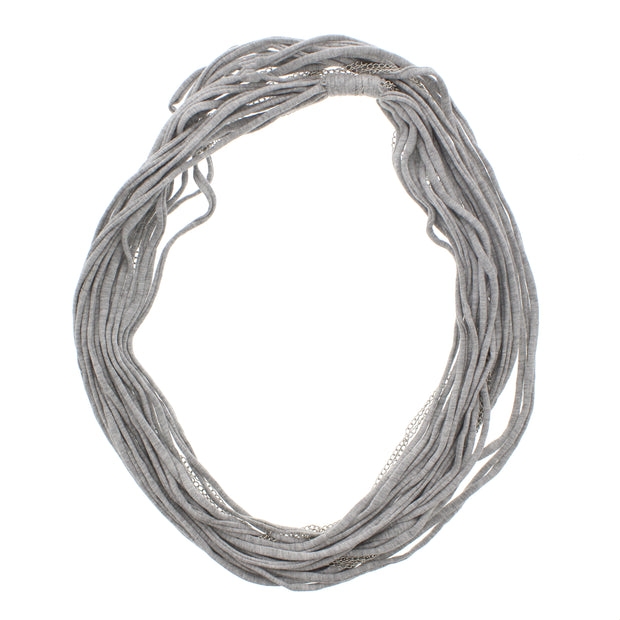 Jersey Cotton Multi String Grey Snood with Chains