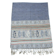 Patterned & Paisley Print Pashmina with Tassels