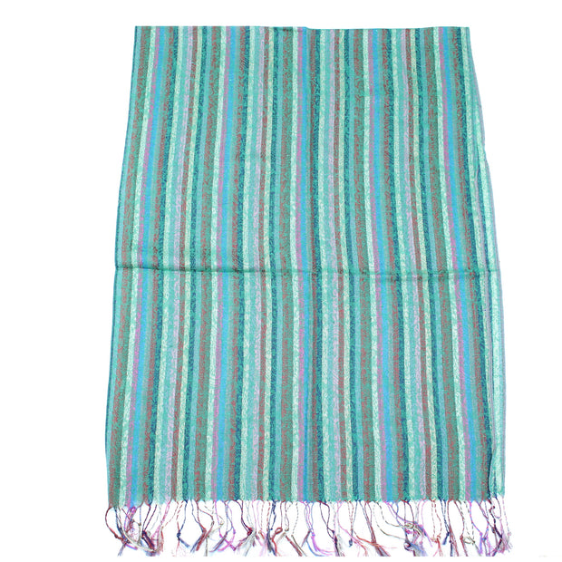 Multicolour Striped Pashmina with Tassels