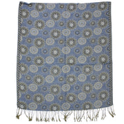 Reversible Concentric Circle Print Pashmina with Tassels