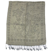 Reversible Paisley & Floral Print with Inverted Colours Pashmina with Tassels