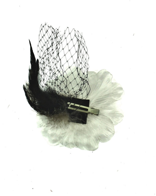 Large Buttercups with Feather & Net on Clip